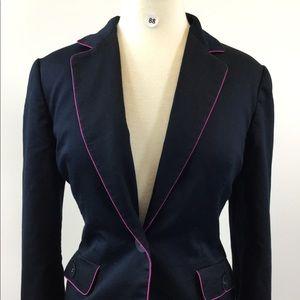 Apostrophe Multi Black/Pink Blazer Size 12P (B-88)